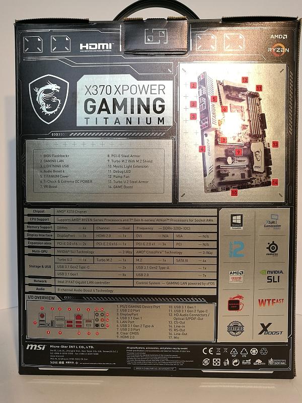 MSI X370 XPower Gaming Titanium Reader Review