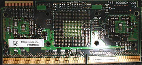 back of second soldered Athlon