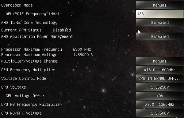 Hier ein Bild vom BIOS.