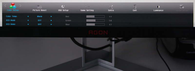 AOC Agon AG271QX Monitor Review Installation and operation