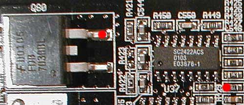 Es gibt auch noch andere Möglichkeiten, um den Pin 7 mit dem Widerstand gegen Masse zu legen.
