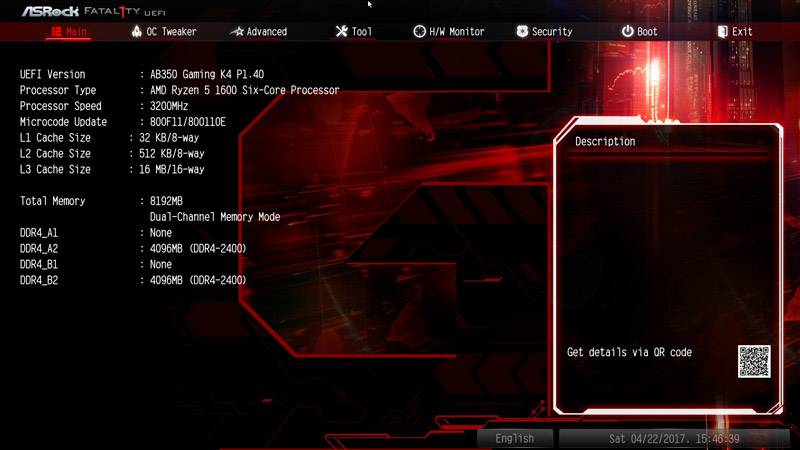 ASRock AB350 Gaming K4 AMD AM4 Motherboard Review BIOS and