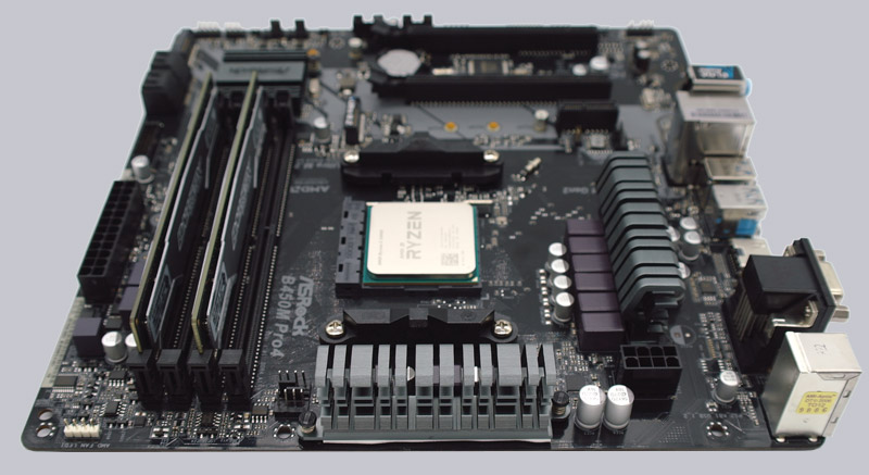 ASRock B450M Pro4 AMD AM4 Motherboard Review Layout, Design