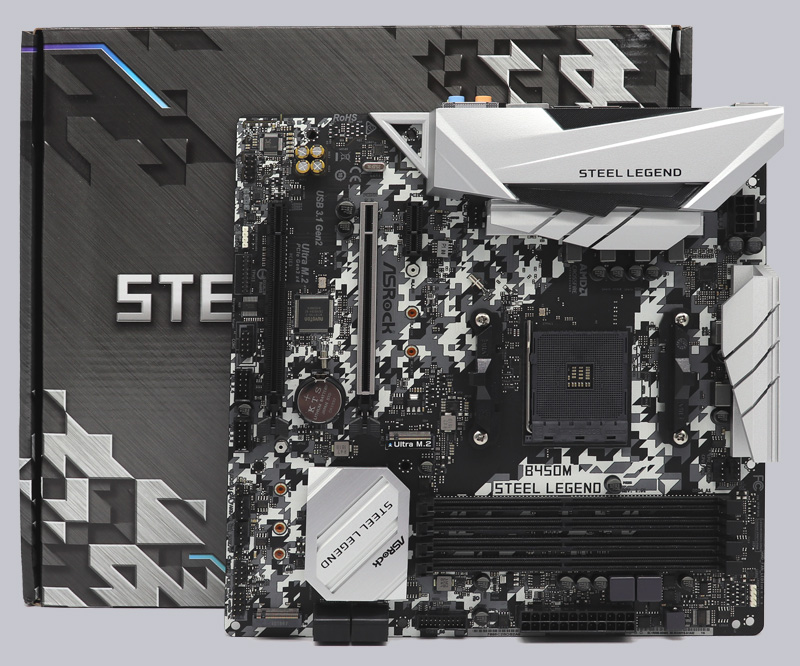 ASRock B450M Steel Legend AMD AM4 Motherboard Review Layout, Design