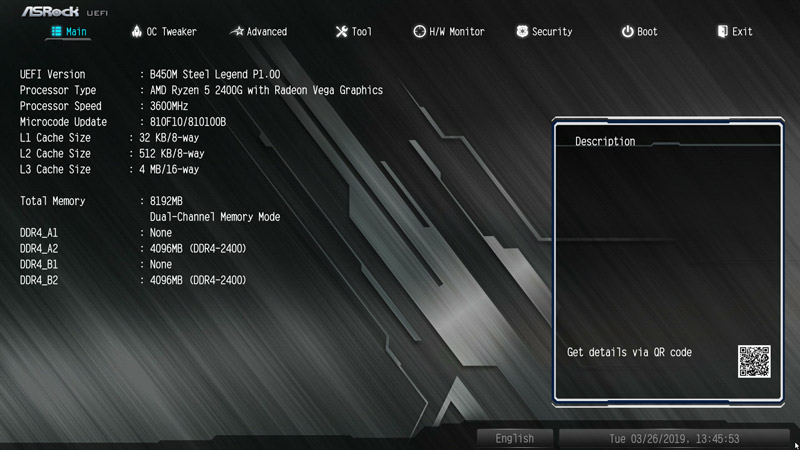 ASRock B450M Steel Legend AMD AM4 Motherboard Review BIOS and