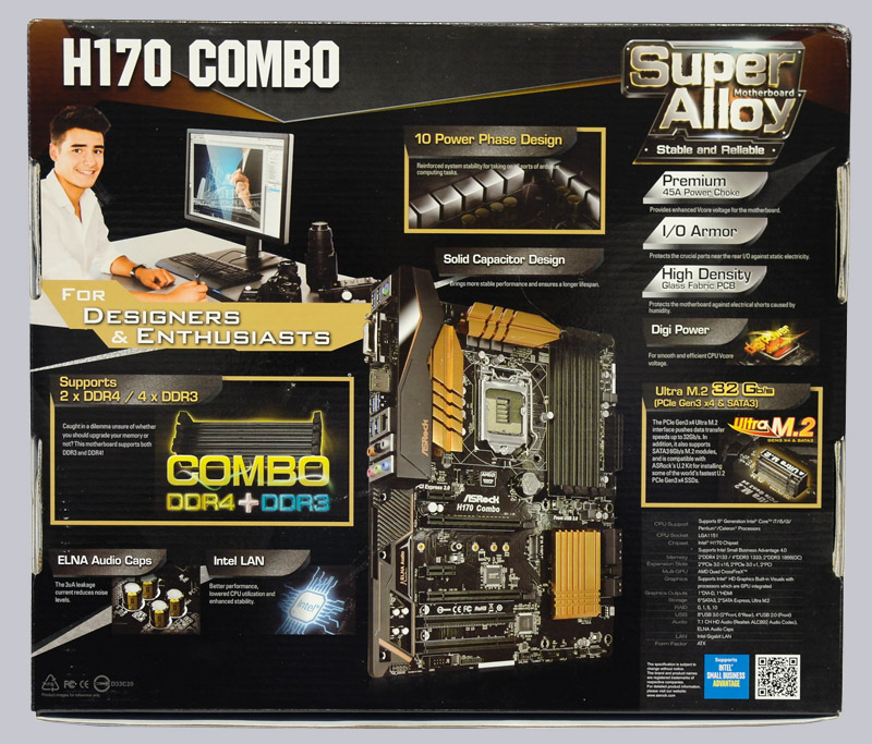 ASRock H170 Combo Intel LAN Vista