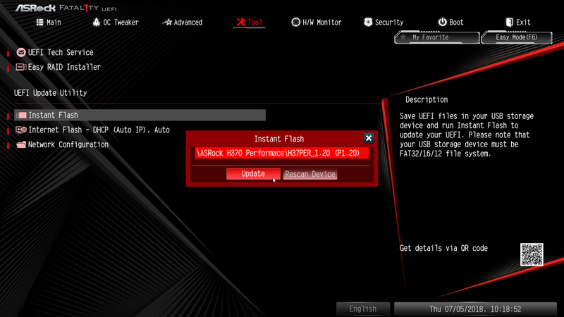 ASRock Fatal1ty H370 Performance Motherboard Review BIOS and