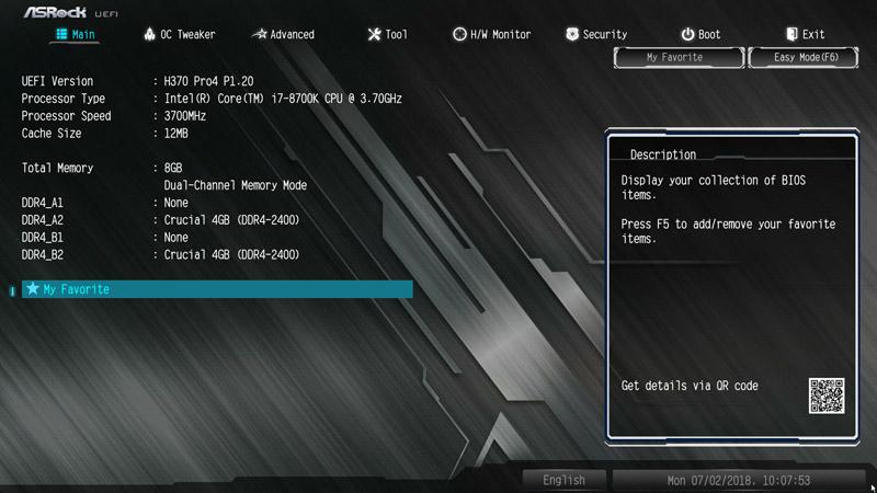 ASRock H370 Pro4 Intel LGA 1151 Motherboard Review BIOS and Overclocking