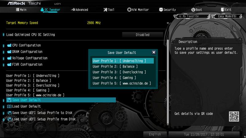 ASRock X299 Taichi Intel LGA 2066 Motherboard Review BIOS