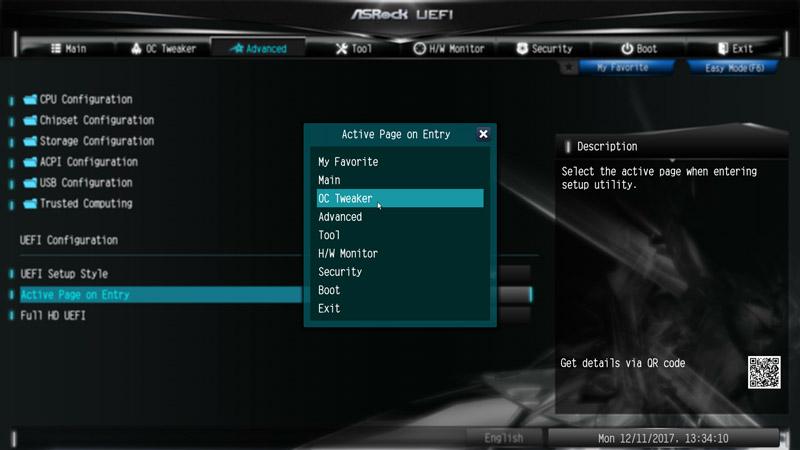 ASRock X299E-ITX/ac Intel LGA 2066 Motherboard Review BIOS