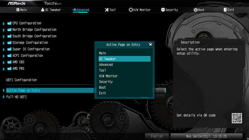 ASRock X370 Taichi AMD AM4 Motherboard Review BIOS and