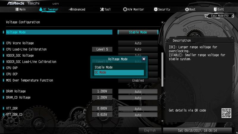 ASRock X399 Taichi AMD TR4 Motherboard Review BIOS and Overclocking