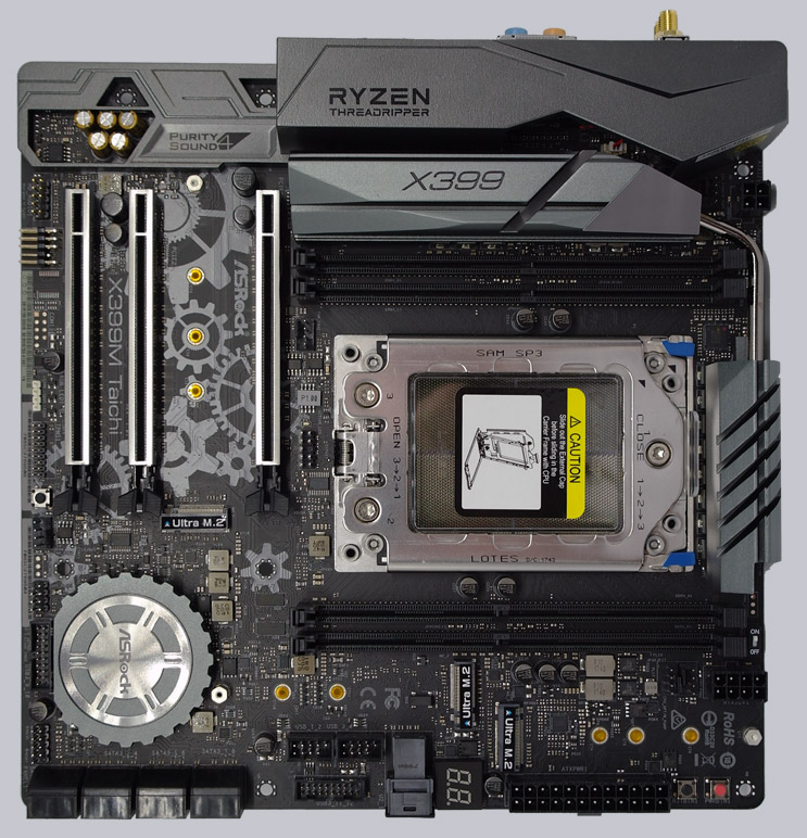 ASRock X399M Taichi AMD TR4 Motherboard Review Result and