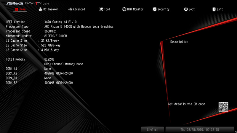 ASRock Fatal1ty X470 Gaming K4 AMD AM4 Motherboard Review BIOS and