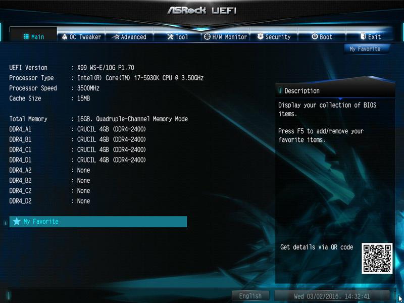 ASRock X99 WS-E/10G Intel LGA 2011-3 Motherboard Review BIOS