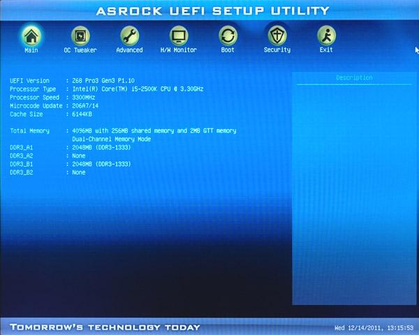 Asrock Z68 Pro3-M Boot XP
