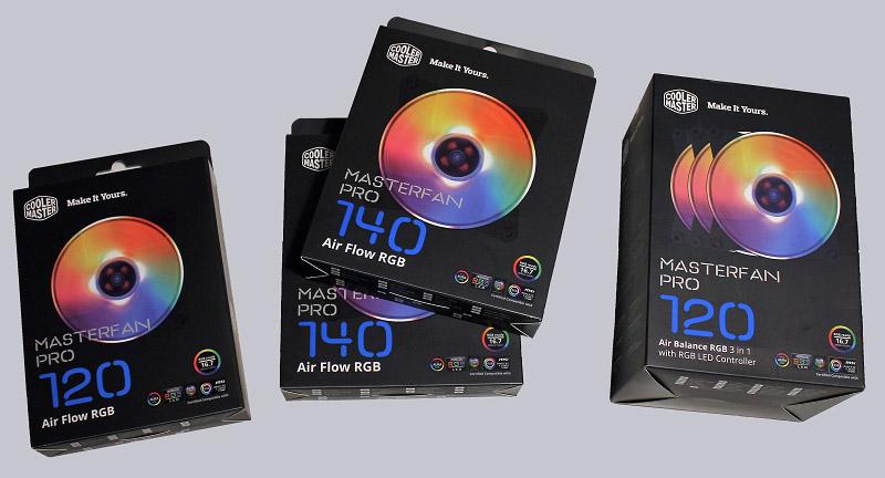 3 Pack 120mm RGB Case Fan Cooler Master MasterFan Pro 120 Air Balance RGB