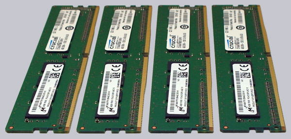 Crucial 16GB Kit 4x 4GB DDR4-2133 Review