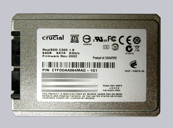 Crucial 1.8 RealSSD C300 Download Drivers