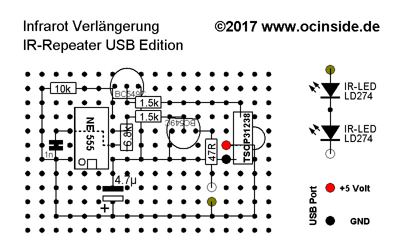 ir repeater usb diy guide soldering