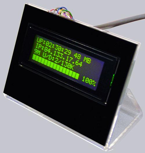 Acrylglas Aufsteller mit dem günstigen 20x4 LCD Bausatz