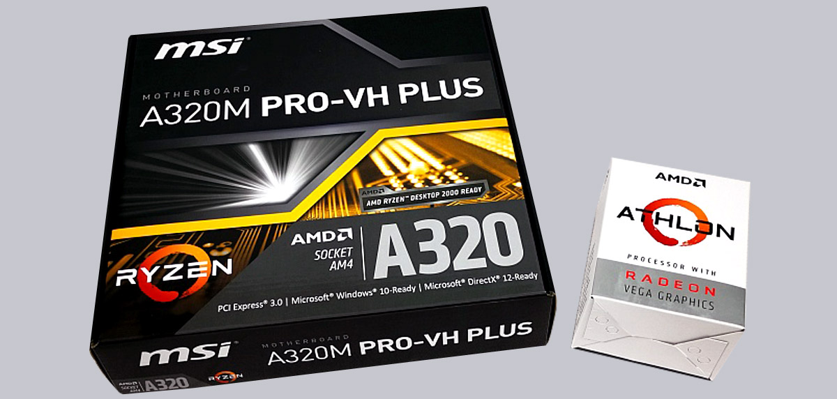 MSI A320M Pro-VH Plus and AMD Athlon 200GE Reader Review
