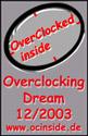 OverClocked inside Overclocking Dream Award 12/2003