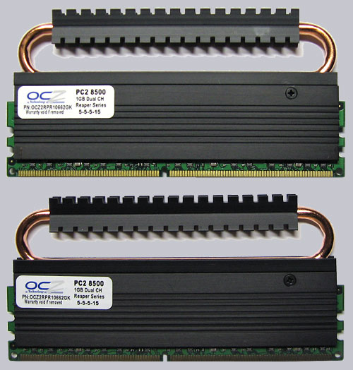 Ocz 2gb kit pc2-8500/ddr2-1066 reaper hpc edition memory review.