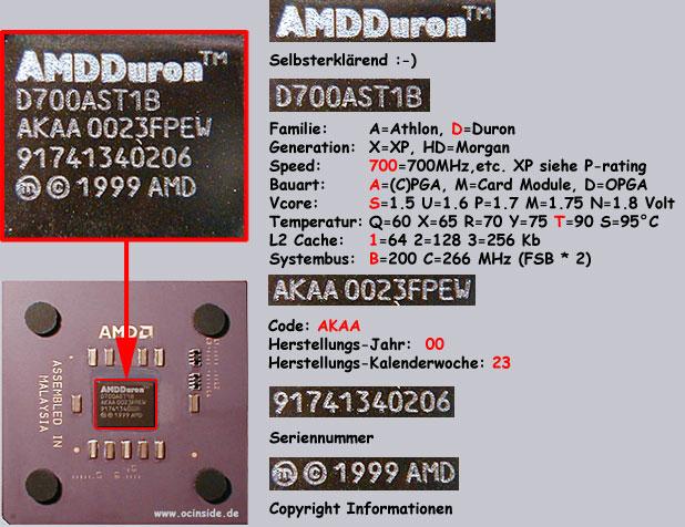 Hiermit kann man alle wichtigen Werte vom Athlon und Duron identifizieren !