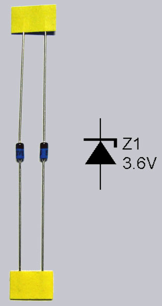 Polung of Zener Diodes - btw. not Zehner Diode but  Zener without h - Zenerdiodes are named by Clarence Melvin Zener